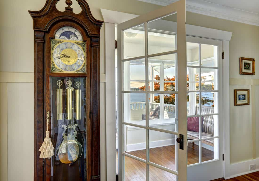 grandfather clock moving