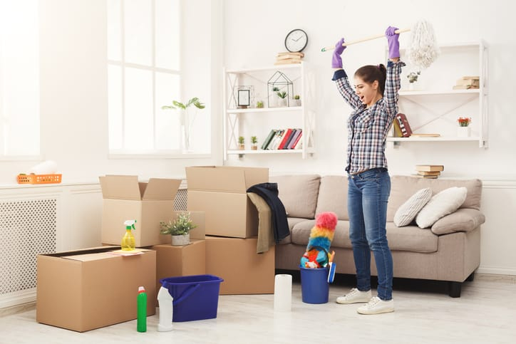 Cleaning before moving